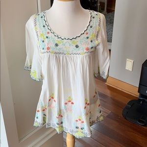 Women's small embroidered top